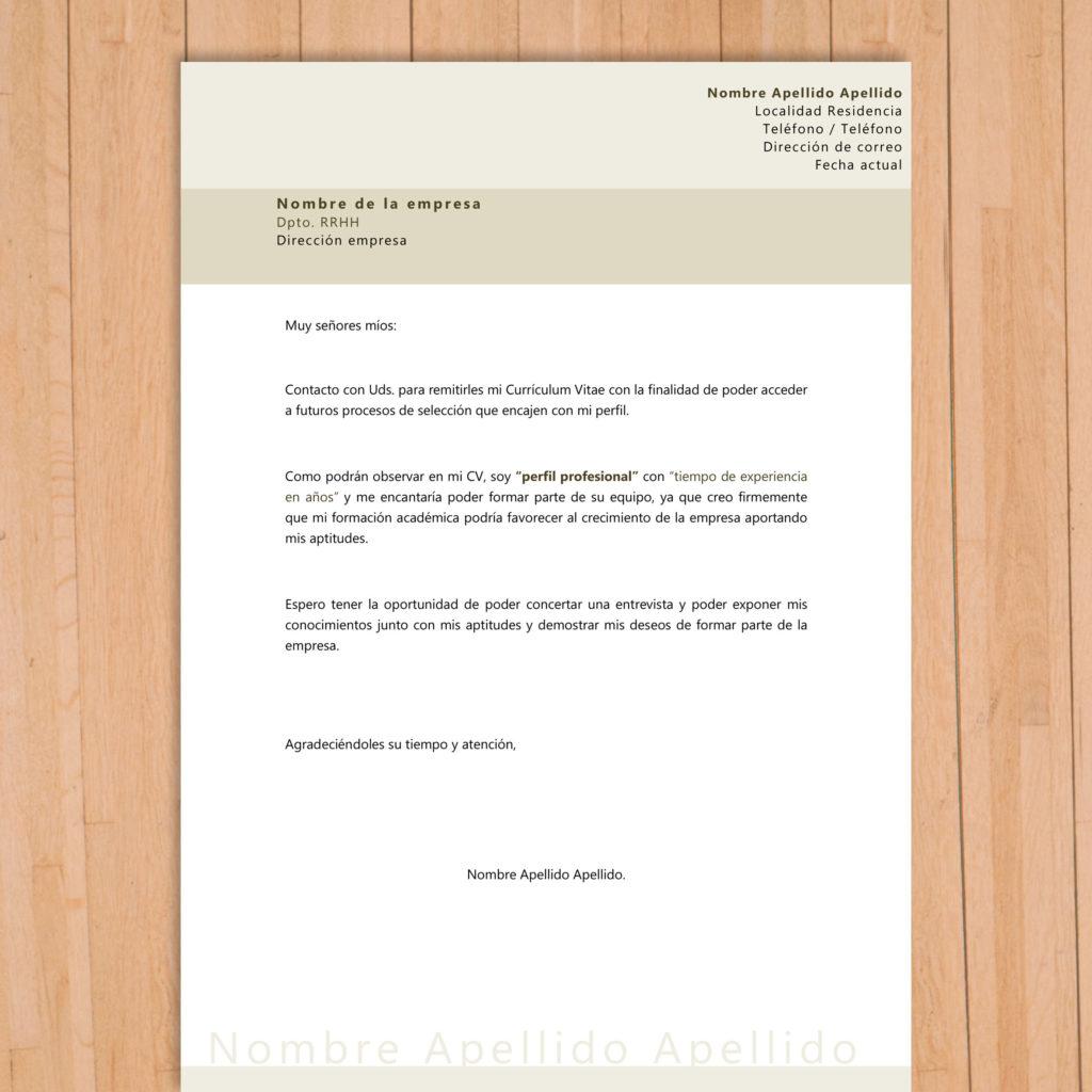 Carta de presentación a empresa que te gusta