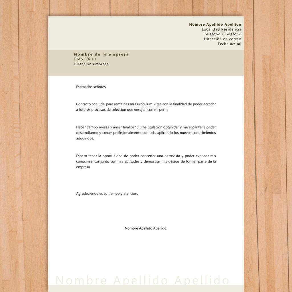 Carta de presentación fin de estudios