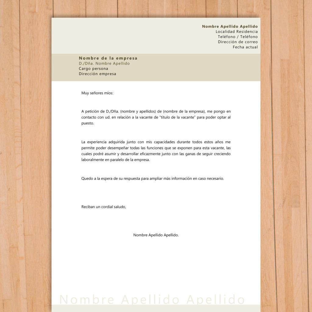Carta de presentación para proceso de selección